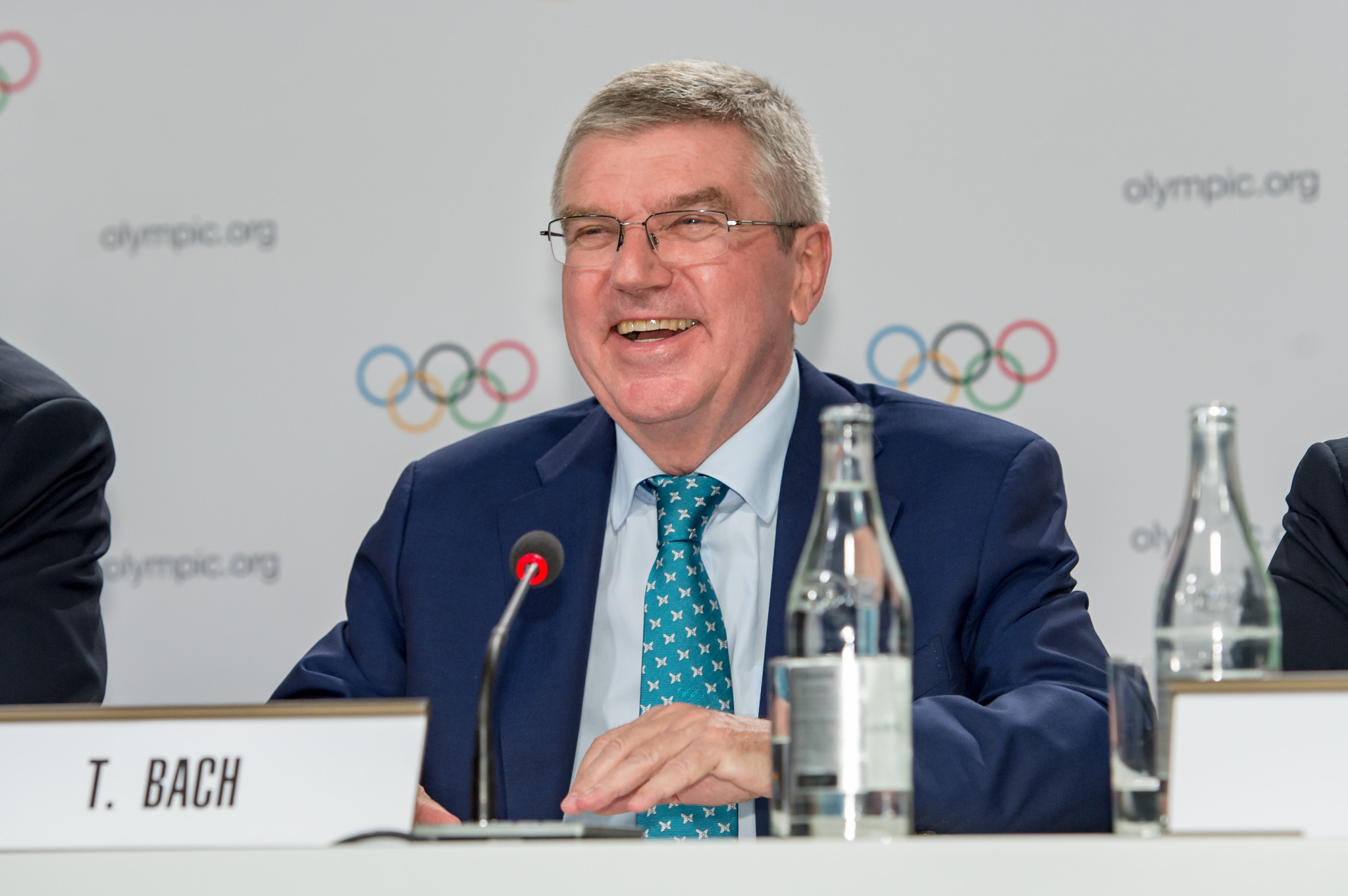 IOC President Thomas Bach opened the door for the heads of the IAAF and FIFA to be elected as members next year ©Getty Images