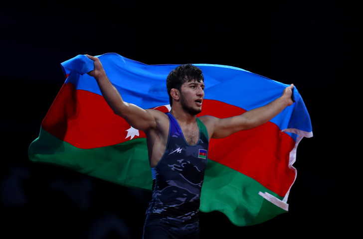 Azerbaijan's Mahir Amiraslanov was the only non-Russian winner on the opening medal night of the wrestling competition at the 2019 European Games in Minsk ©Getty Images