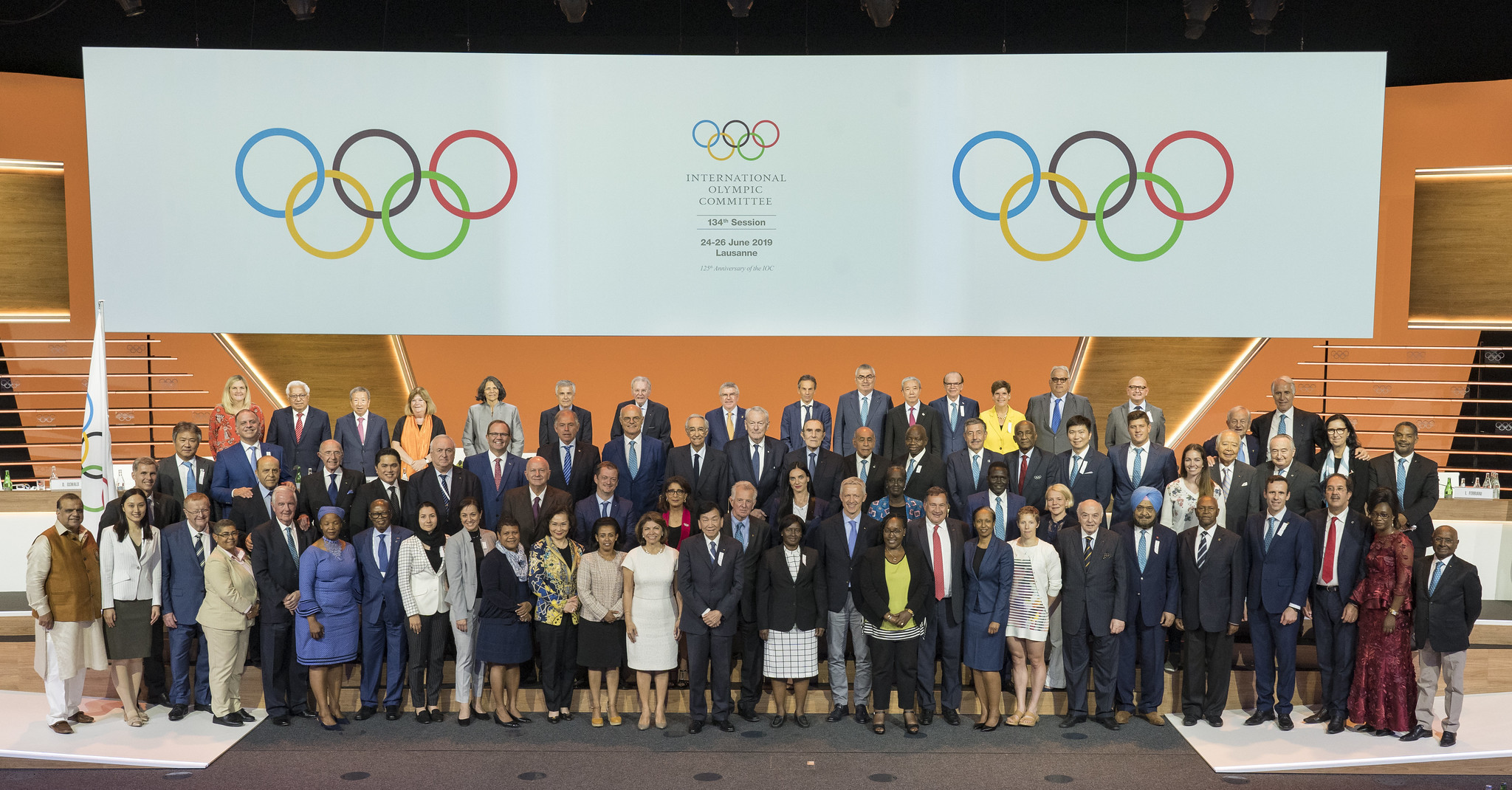 The IOC also appointed honorary members during the Session ©IOC