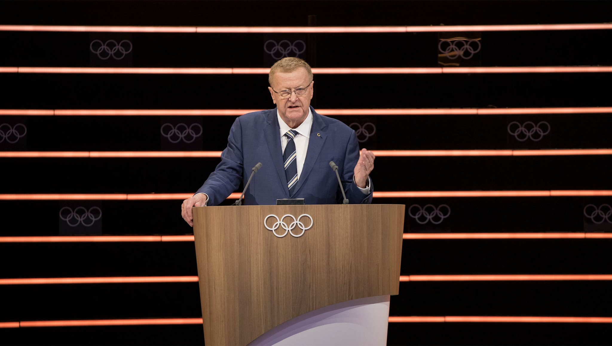 Australian IOC member John Coates chaired the working group on the new bidding process and presented his recommendation to the Session ©IOC