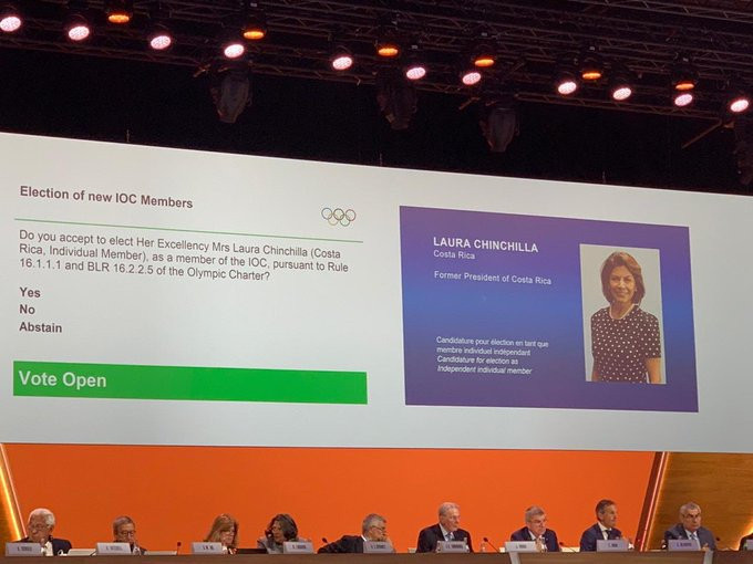 Former Costa Rica President Laura Chinchilla also became an IOC member ©Twitter