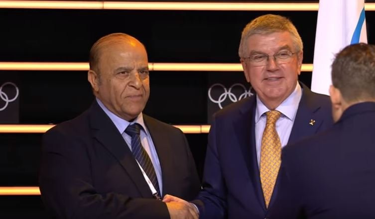 Syria's Samih Moudallal was made an honorary member of the IOC ©IOC