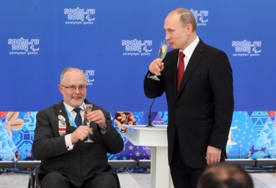 Russian President Vladimir Putin pictured with IPC President Sir Philip Craven during Sochi 2014 ©Getty Images