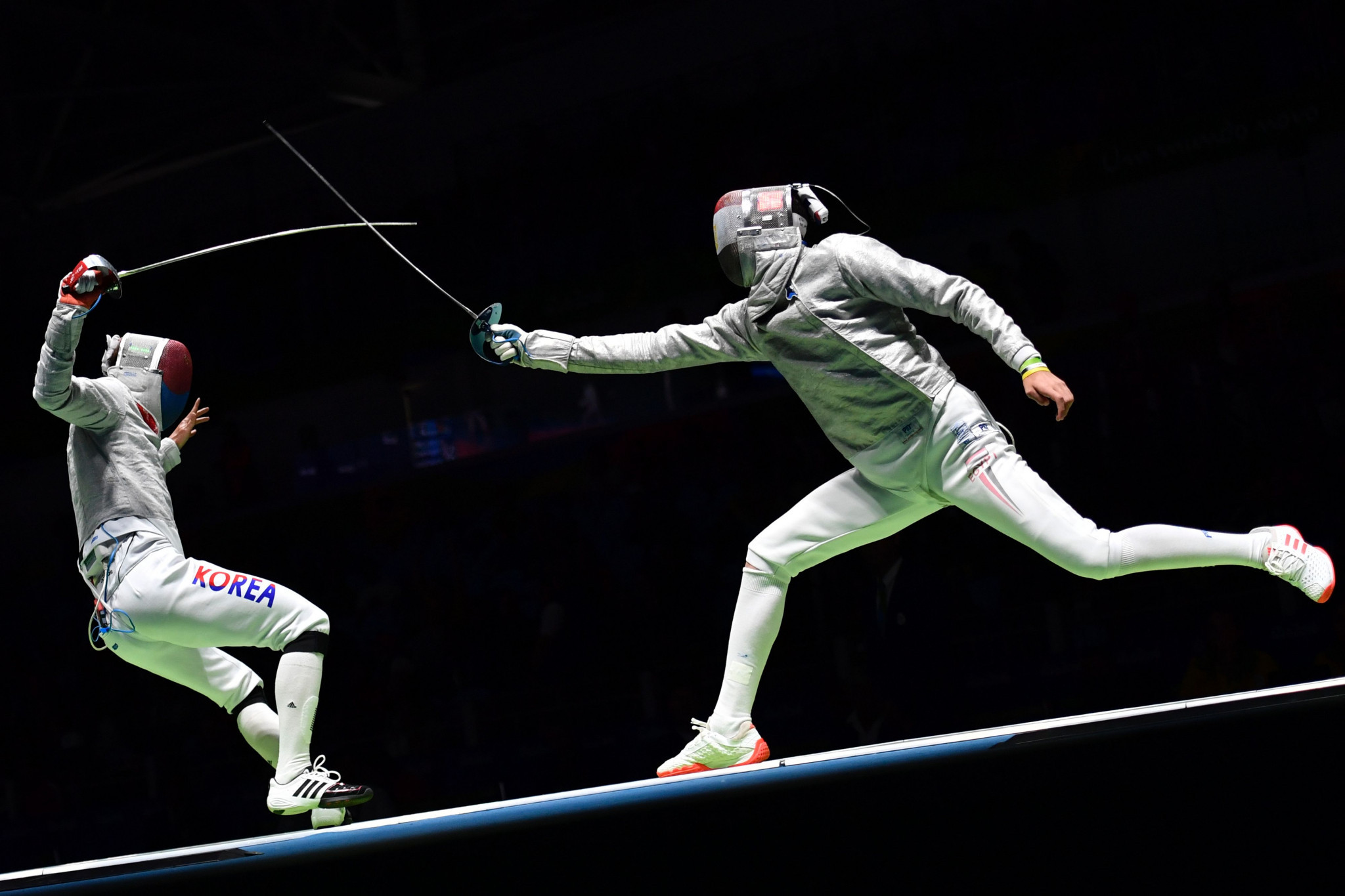 Egypt's Mohamed Amer came out on top in the men's sabre event ©Getty Images