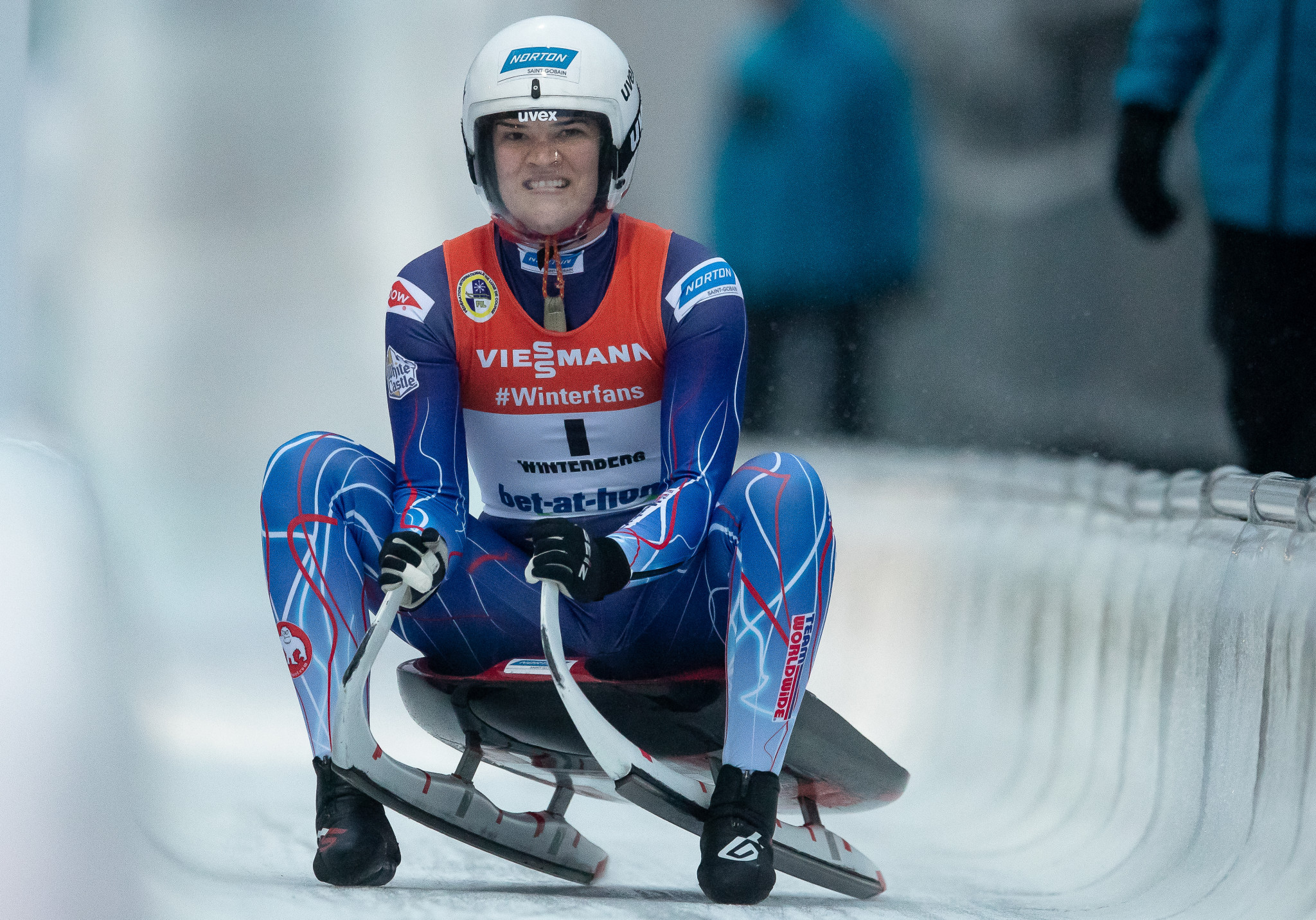 Summer Britcher was among the athletes Pat Anderson coached during his first spell at USA Luge ©Getty Images