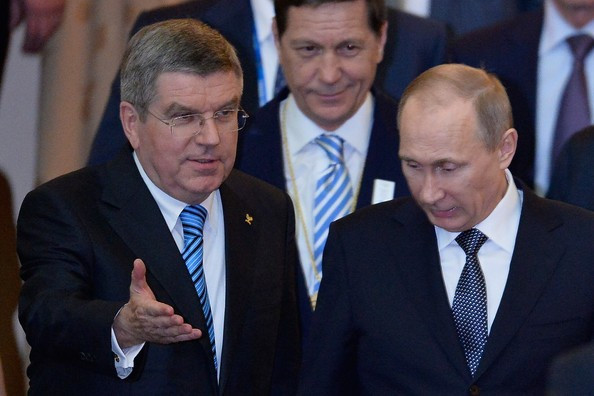 "A spokesman for Vladimir Putin, pictured with IOC President Thomas Bach at Sochi 2014, has claimed the allegations in the report by the WADA Independent Commission report as ""groundless"" ©Getty Images"