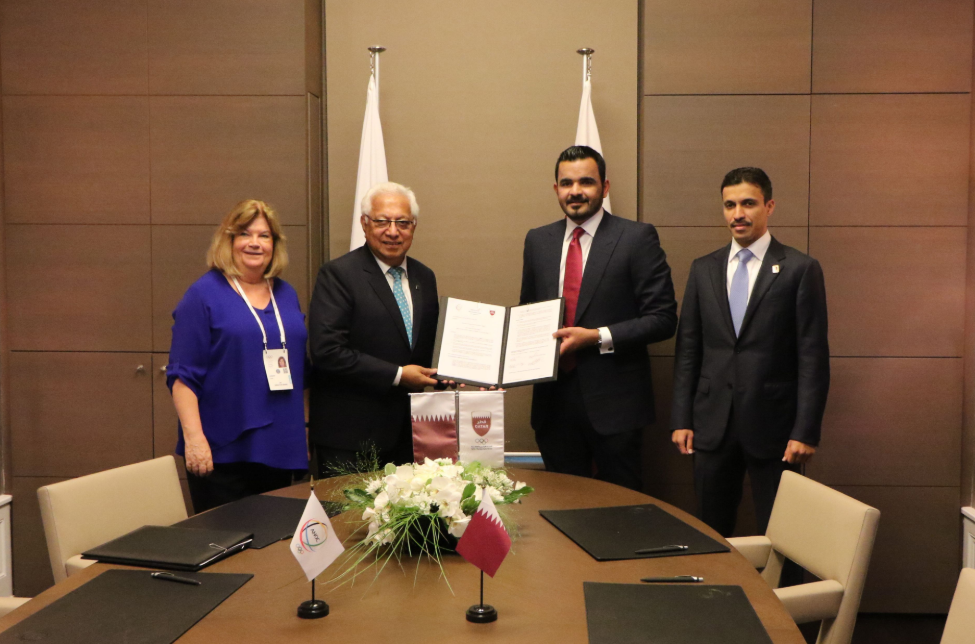 The Association of National Olympic Committees and the Qatar Olympic Committee have signed the 2019 ANOC World Beach Games host city contract ©ANOC
