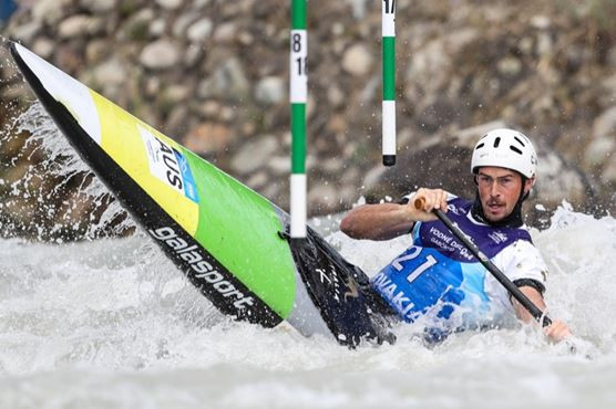 Tasmania's Daniel Watkins will compete in the men's C1 and K1 contests in Tacen, Ljubljana ©Paddle Australia