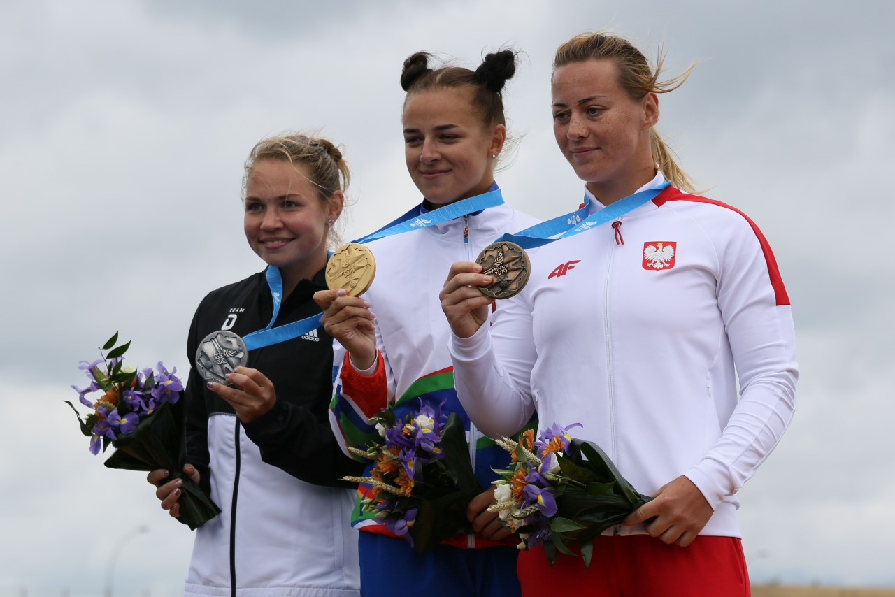 Hosts Belarus secure four more golds in storm-lashed canoe sprint at European Games