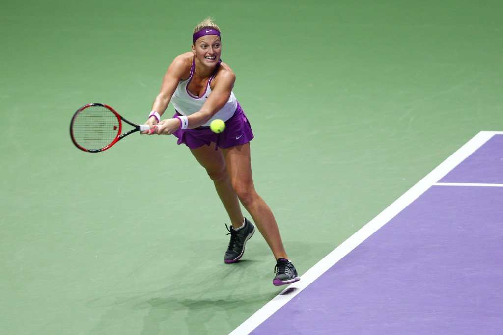 Petra Kvitová will hope for a repeat of her WTA Finals win over Maria Sharapova in Prague
