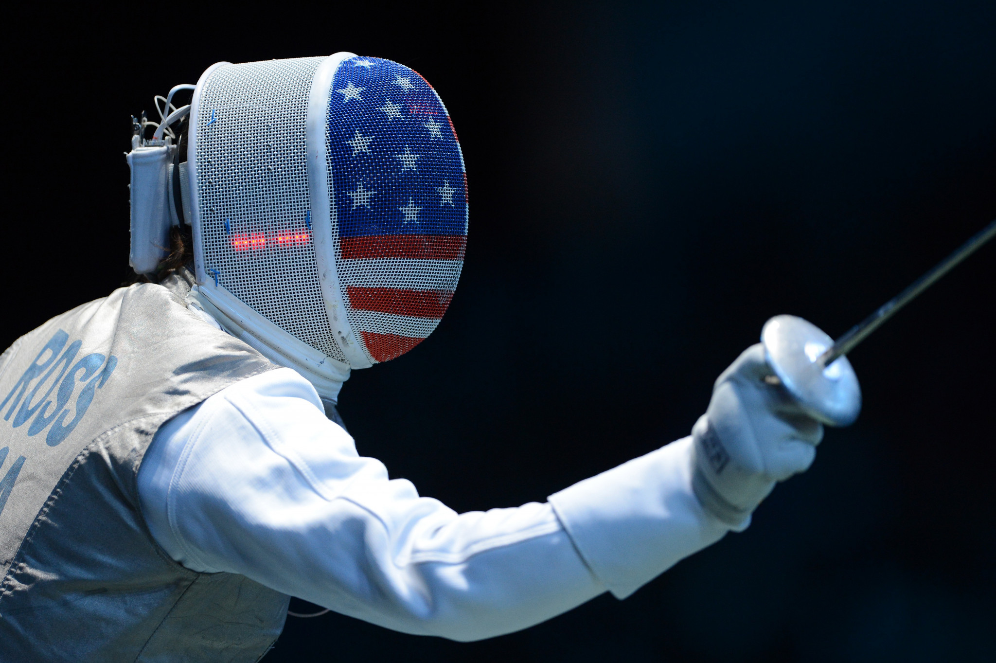 Nicole Ross held off a strong home challenge to claim the women's foil title ©Getty Images