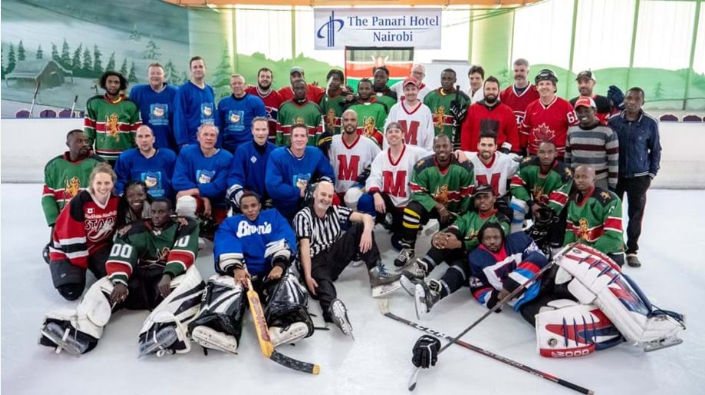 The four teams posed for a joint photo after the event ©Robert Opiyo/Ice Lions