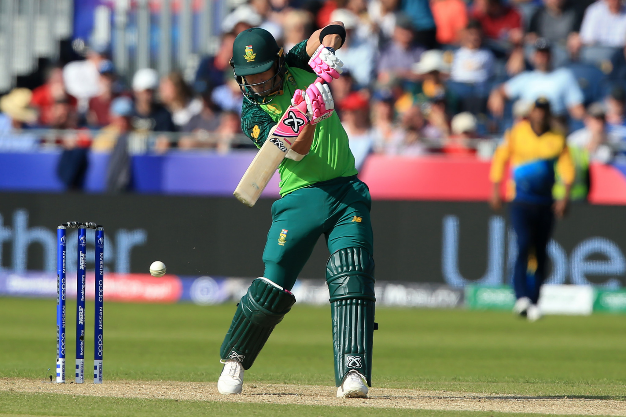 South Africa dent Sri Lankan semi-final hopes with nine-wicket win at Cricket World Cup