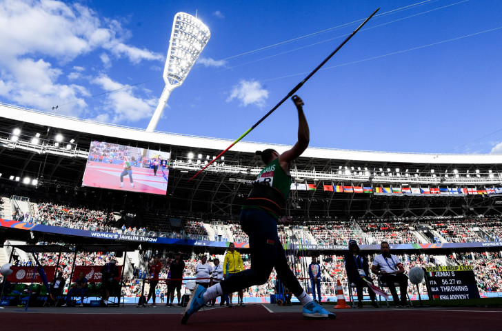 Javelin thrower Tatsiana Khaladovich was one of five Belarus winners on the day, but the hosts missed gold in the DNA final by a fraction as they were beaten to the line by Ukraine ©Getty Images