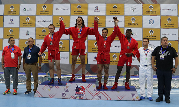 Canada and Venezuela claimed three gold medals each as action began today at the Pan American Sambo Championships in the Dominican Republic's capital Santo Domingo ©FIAS