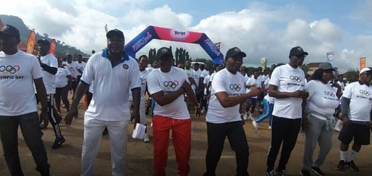 Fun run held in Ghana to mark Olympic Day celebrations