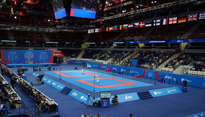 Karate at the European Games in Minsk is being staged at the Cizhovka Arena ©WKF