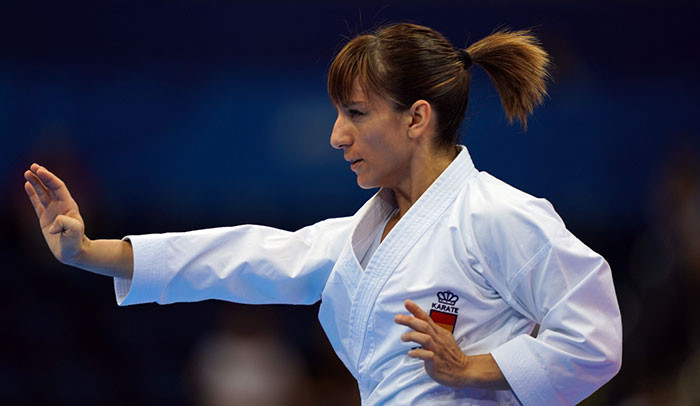 Spain's Sandra Sánchez retained her European Games kata title today ©WKF