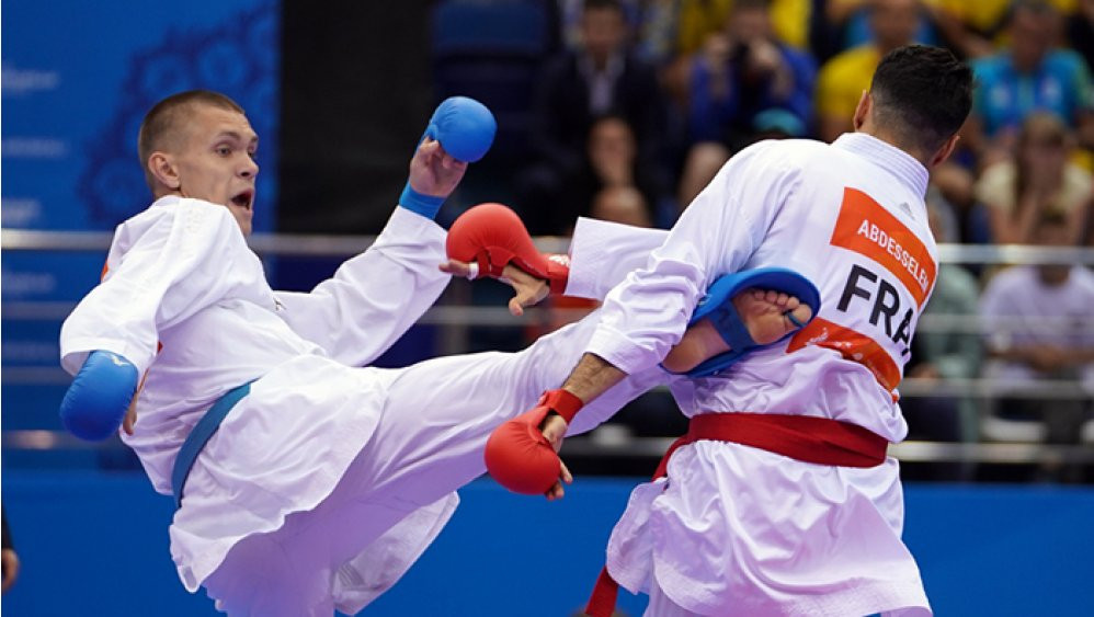 Today marked the first of two days of karate action at the European Games in Minsk ©WKF