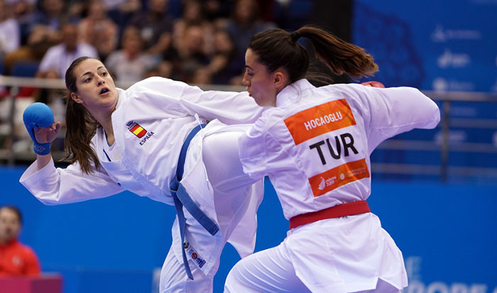 Spain take three golds on opening day of karate competition at Minsk 2019