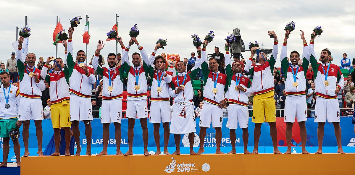 Portugal won the Minsk 2019 beach soccer gold medal at the Olympic Sports Complex ©Beach Soccer Worldwide
