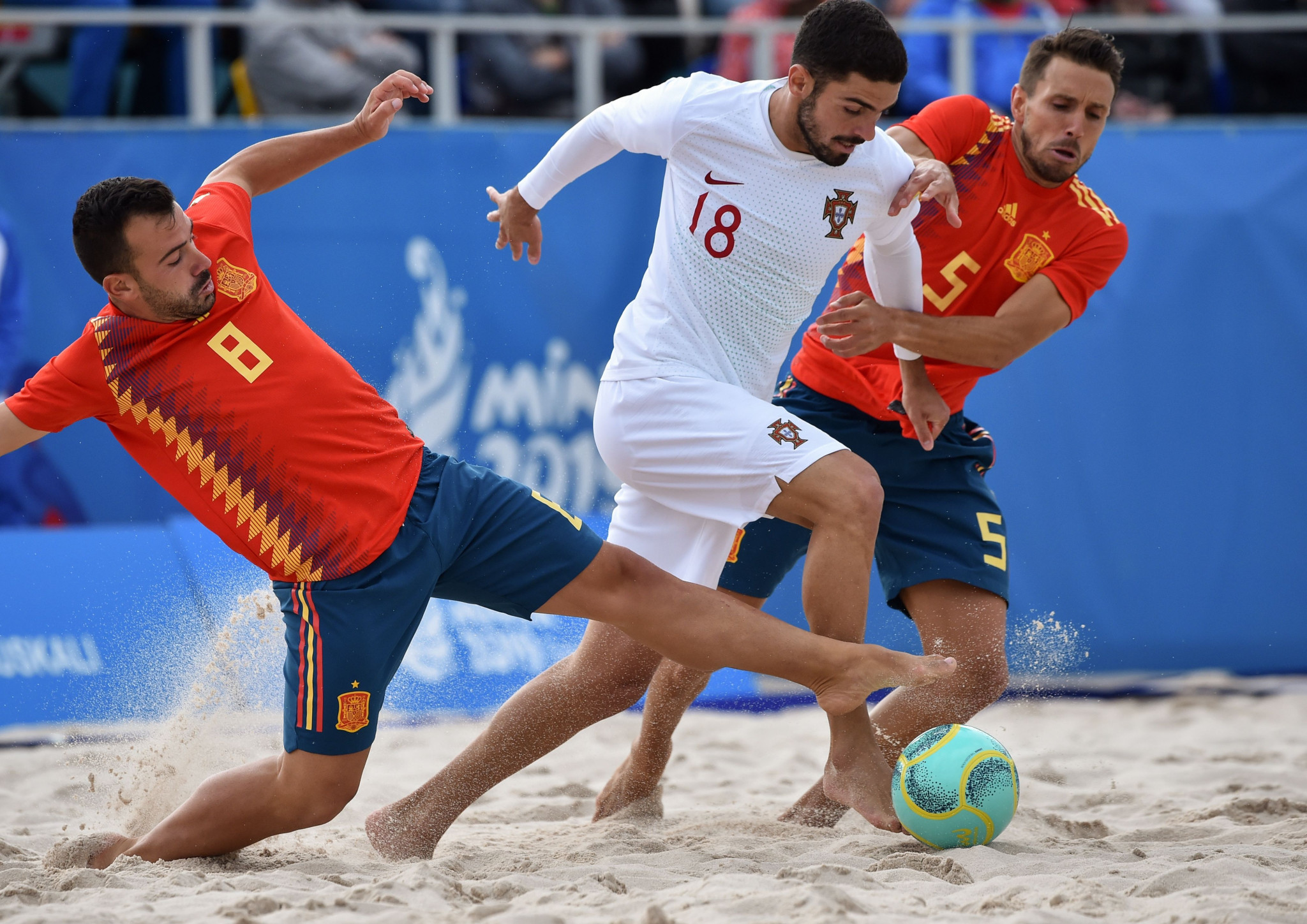 Portugal overwhelm Spain to win Minsk 2019 beach soccer tournament