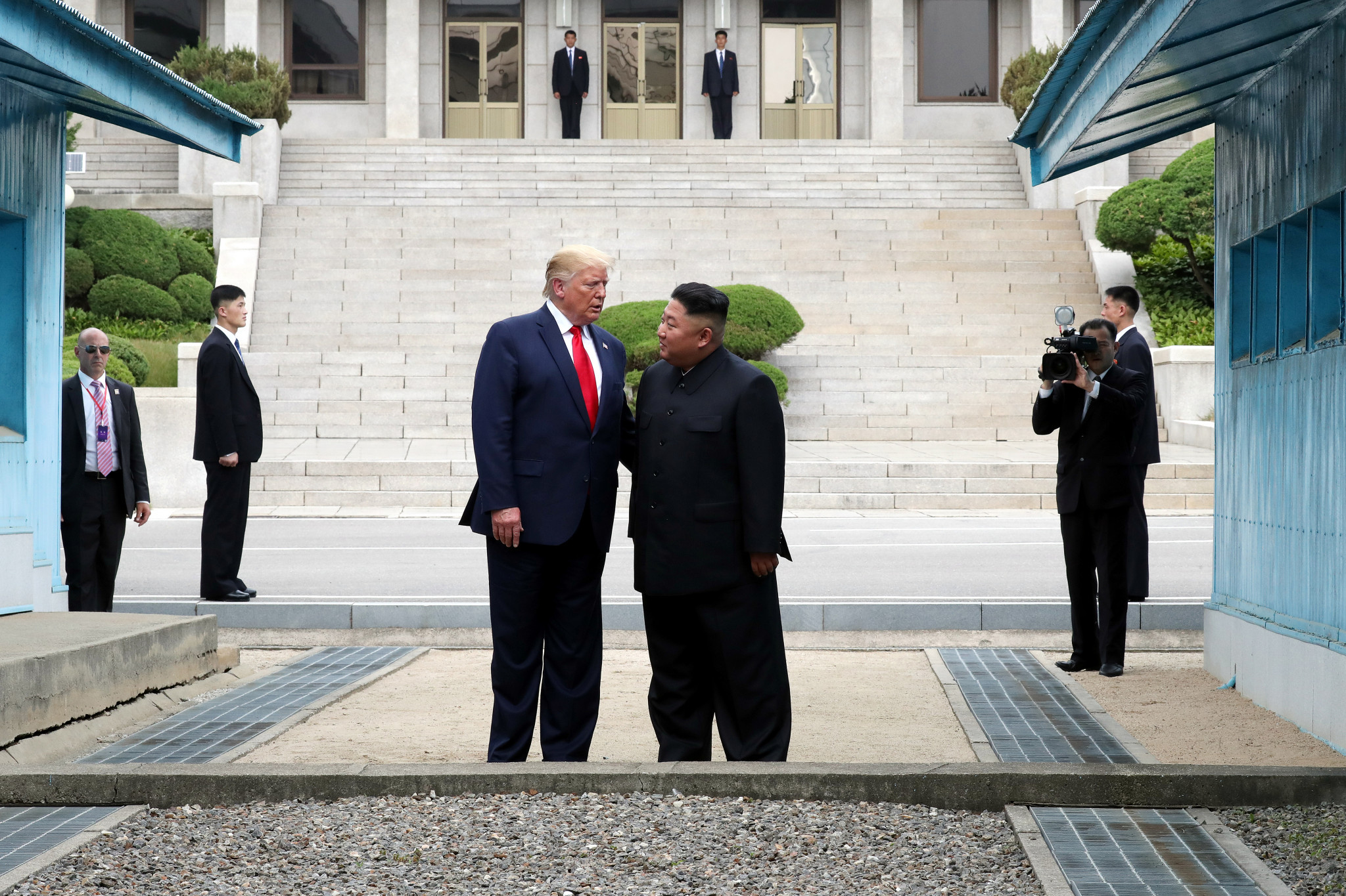 Donald Trump became the first United States President to step foot into North Korea after meeting the country's Leader Kim Jong Un in the Korean Demilitarized Zone ©Getty Images