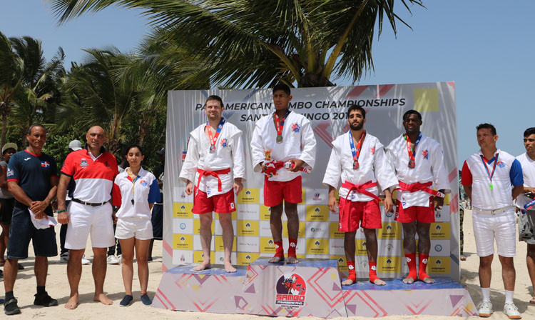 Hosts Dominican Republic claimed three of the nine gold medals up for grabs as the Pan American Beach Sambo Championships took place in Santo Domingo today ©FIAS