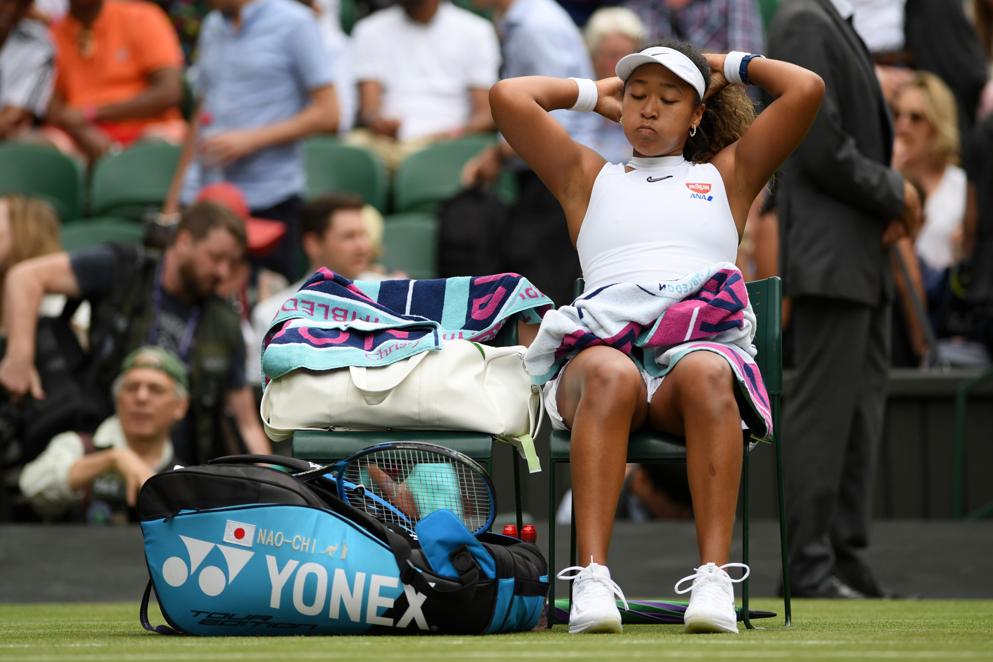 Osaka knocked out of Wimbledon in first round