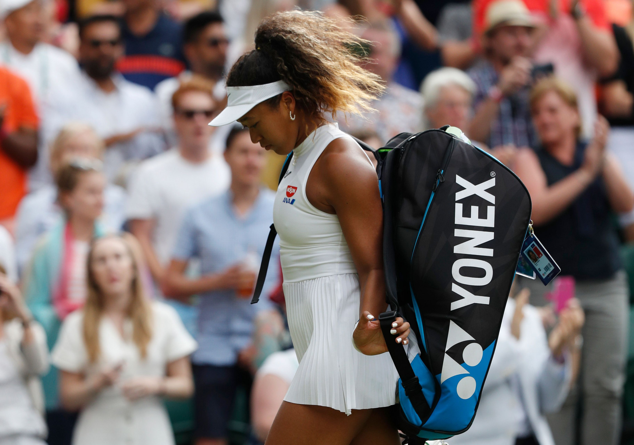 Williams suffers shock defeat to 15-year-old as second seed Osaka knocked out in Wimbledon first round