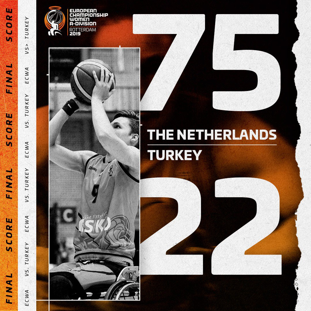 Hosts Netherlands win again at IWBF Women's European Championship Division A