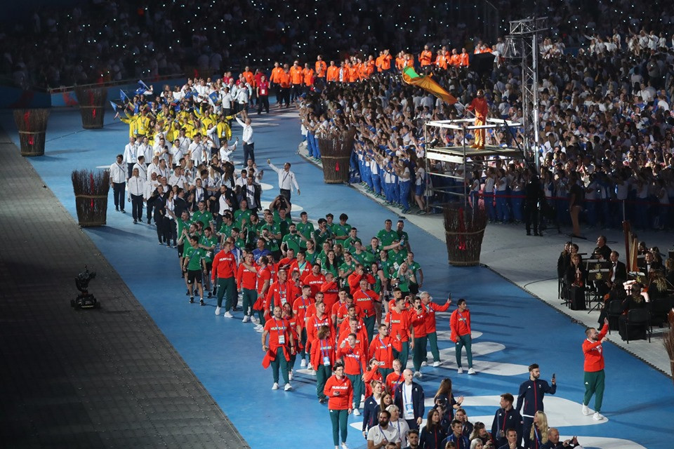 The entry of the athletes was a highlight of the Closing Ceremony ©Minsk 2019
