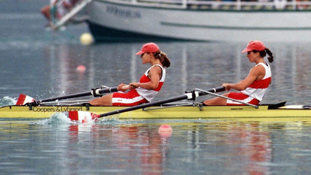 Marnie McBean won four Olympic medals, three of them gold, including the coxless pairs at Barcelona 1992 ©COC
