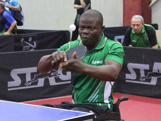Unseeded Nigerian Isau Ogunkunle caused an upset at the Africa Para Table Tennis Championships in Alexandria, Egypt, with a group stage win against Mohamed Sameh Eid Saleh ©APTT