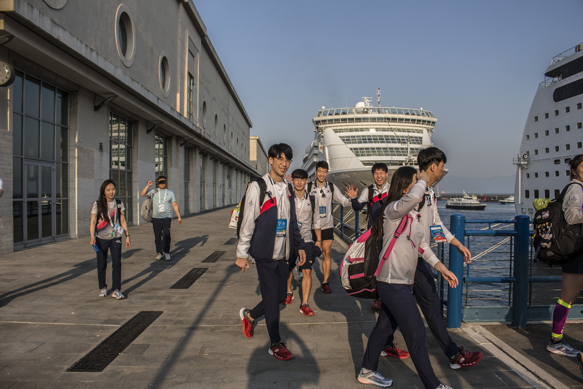 Two cruise ships are acting as the Naples 2019 Summer Universiade Athletes' Village ©FISU