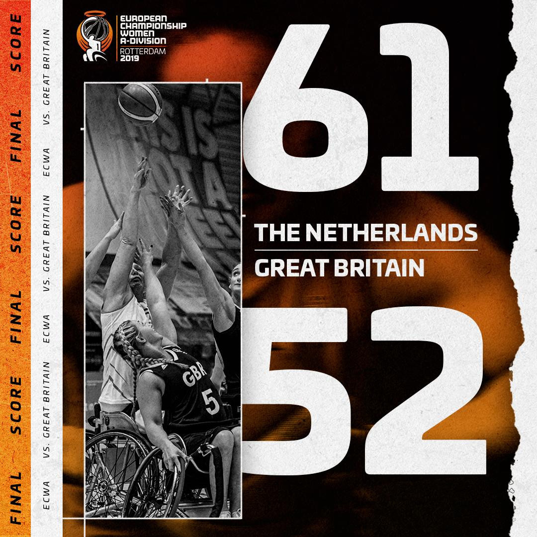 Hosts Netherlands beat Britain at IWBF Women's European Championship Division A