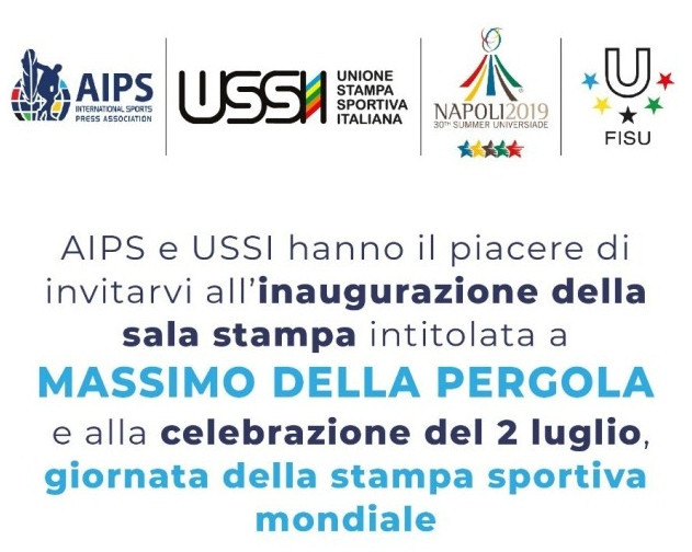 Media Centre at Naples 2019 officially named after Universiade pioneer