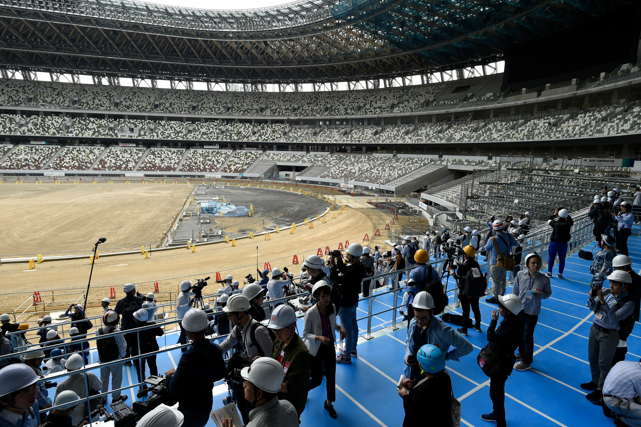 New images of the National Stadium in Tokyo 2020 have been released today ©Getty Images