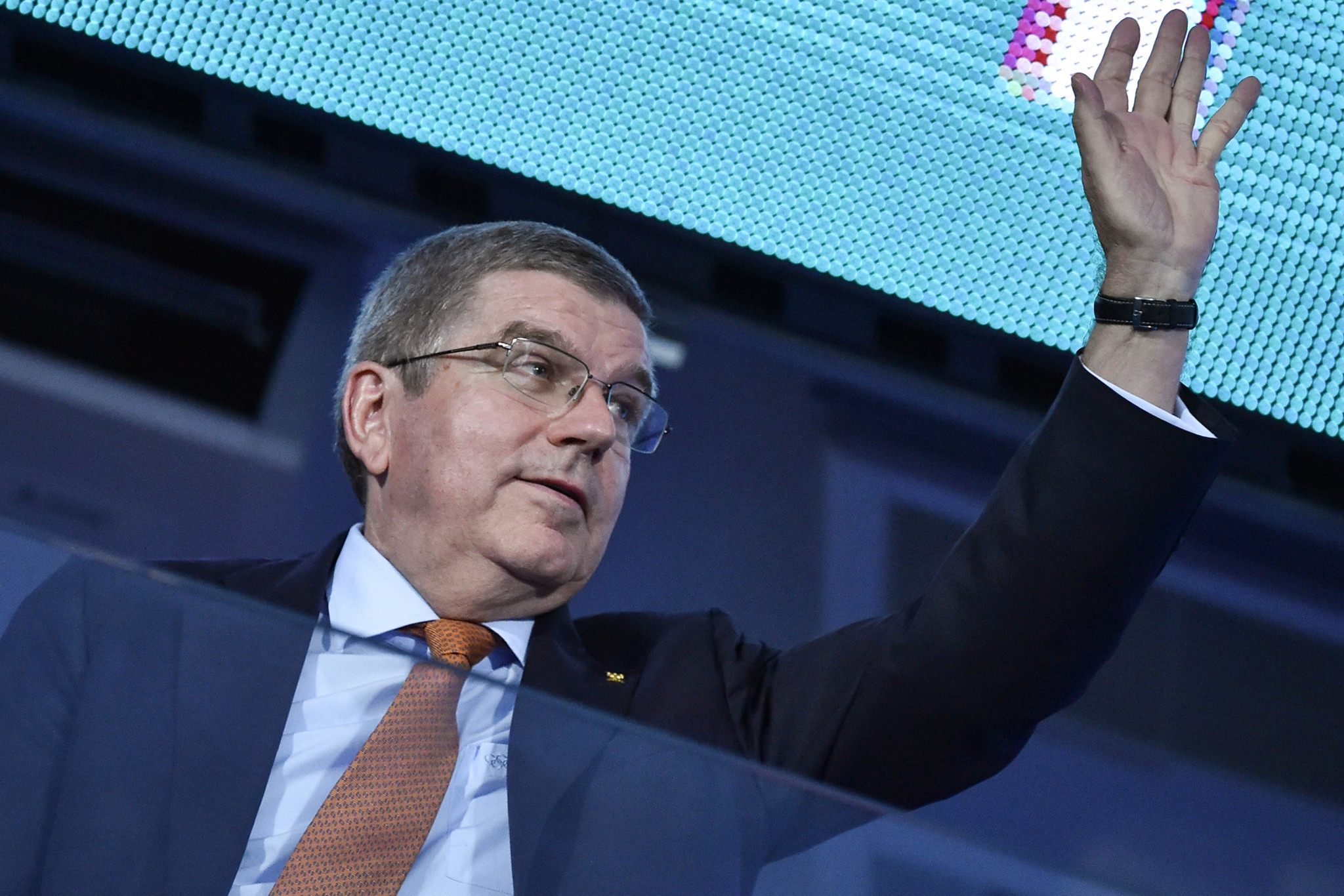The IOC's President, Thomas Bach, attended Sunday's European Games Closing Ceremony in Minsk ©Getty Images