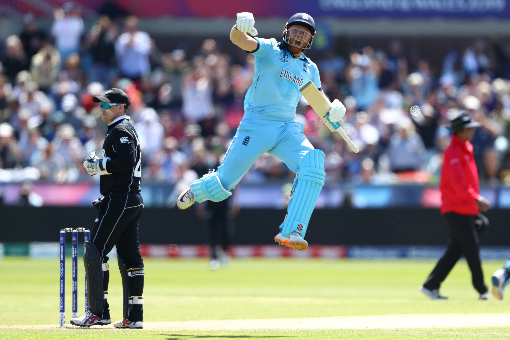 Jonny Bairstow hit his second consecutive century to guide England to the semi-finals ©Getty Images