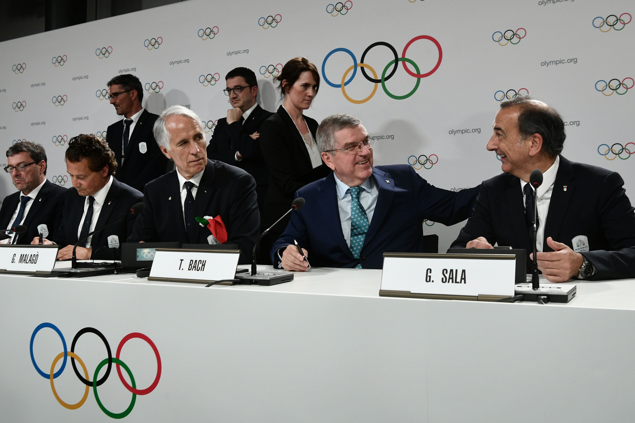 IOC President Thomas Bach, second from right, at last week's IOC Session