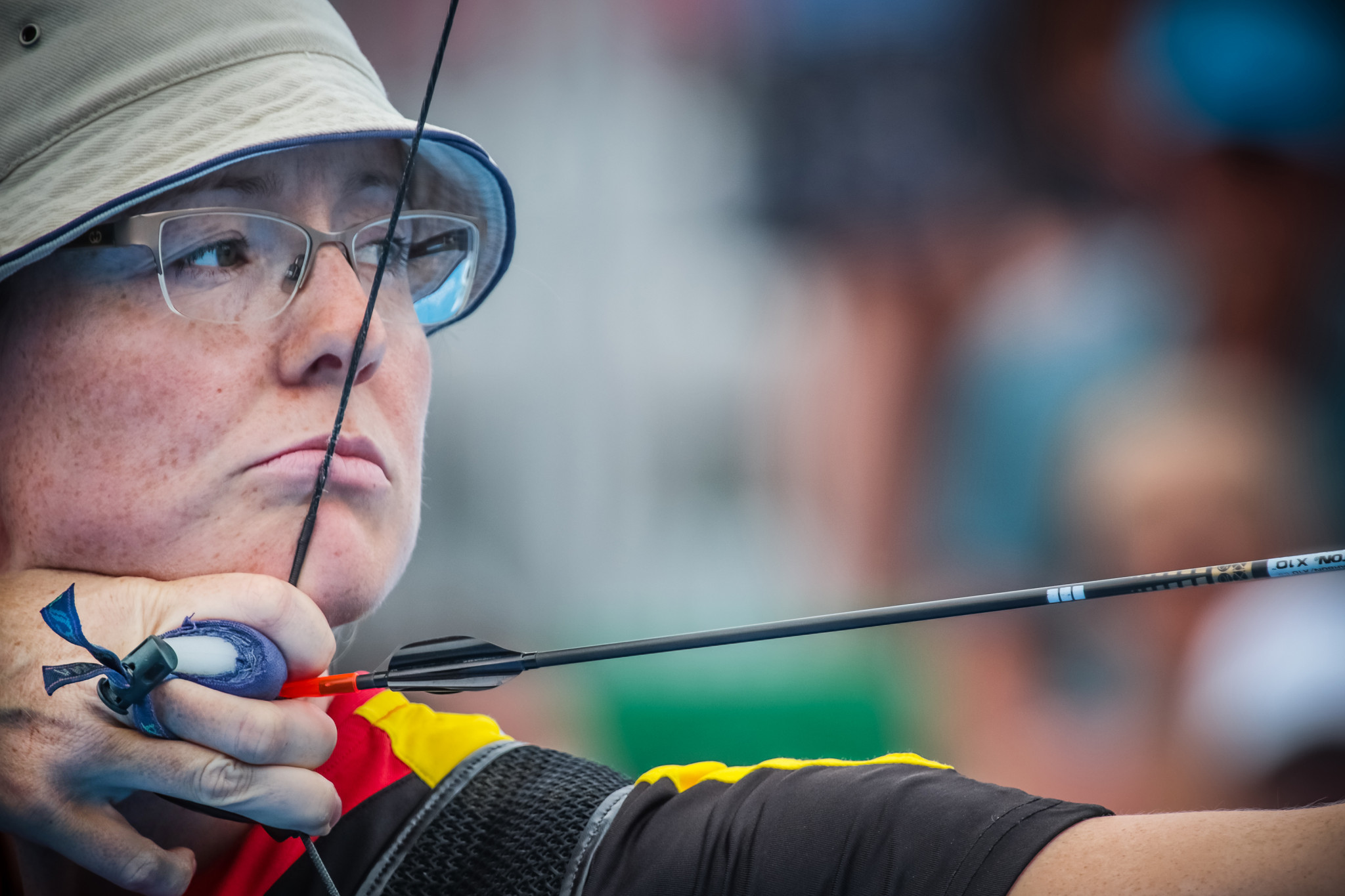 Olympic silver medallist Lisa Unruh progressed in the women's recurve competition ©Getty Images