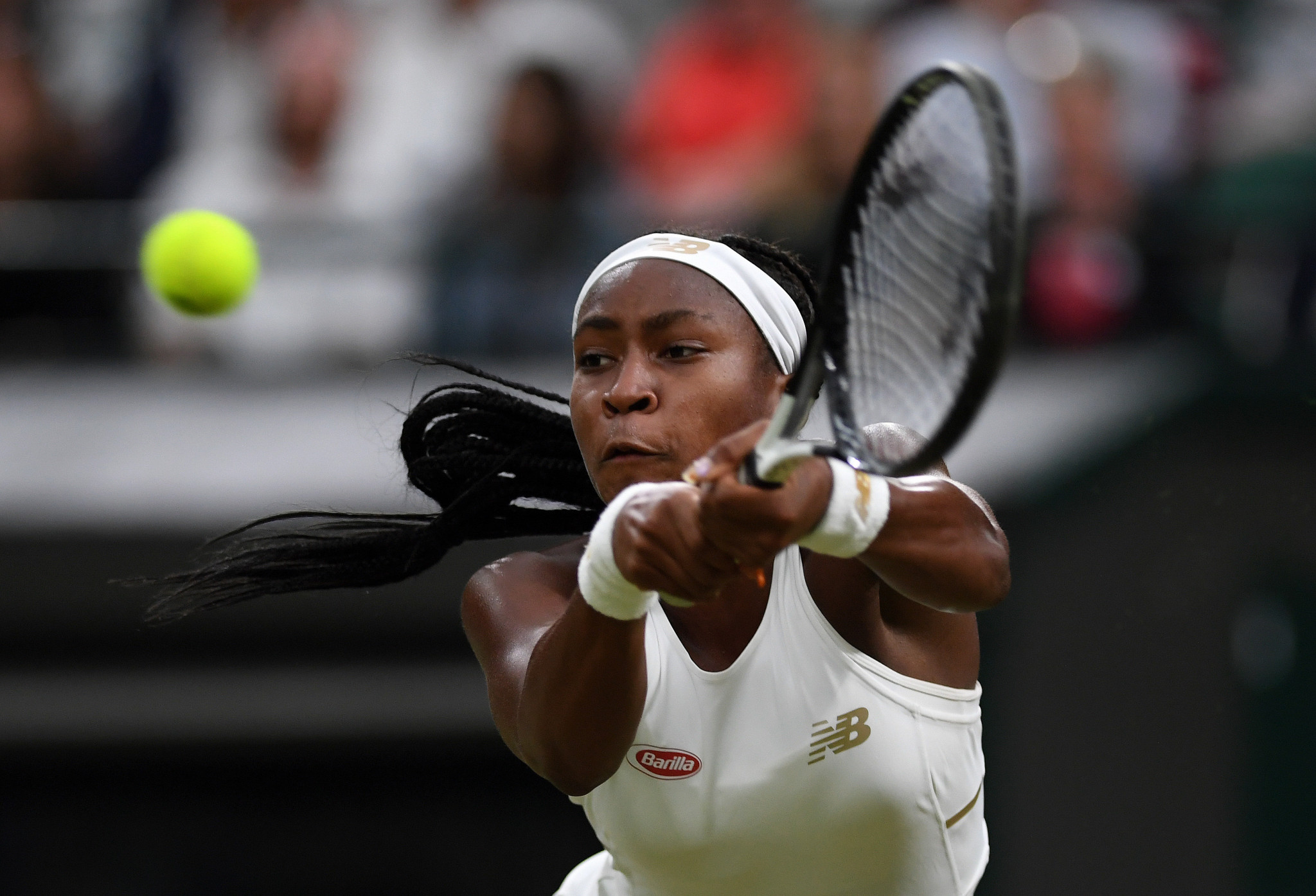 American youngster Coco Gauff continued her winning run at Wimbledon ©Getty Images