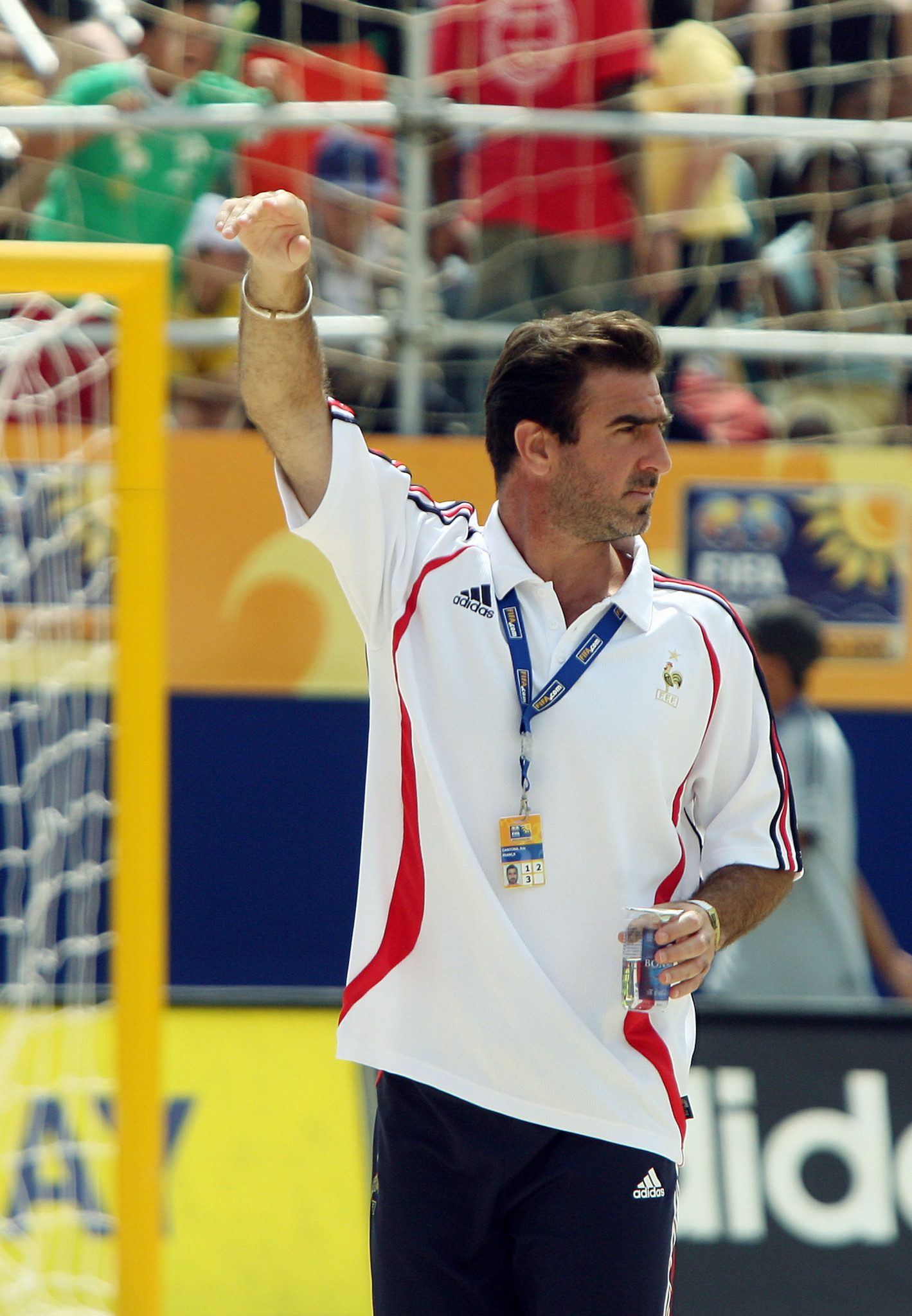 Former Manchester United star Eric Cantona was a highly successful beach soccer player and coach for 15 years after retiring from his main career, playing a key role in promoting the sport ©Getty Images