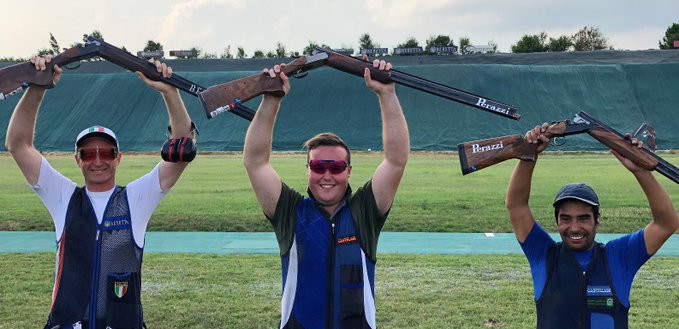 Matt Coward-Holley sealed gold for Britain in the men's event ©British Shooting