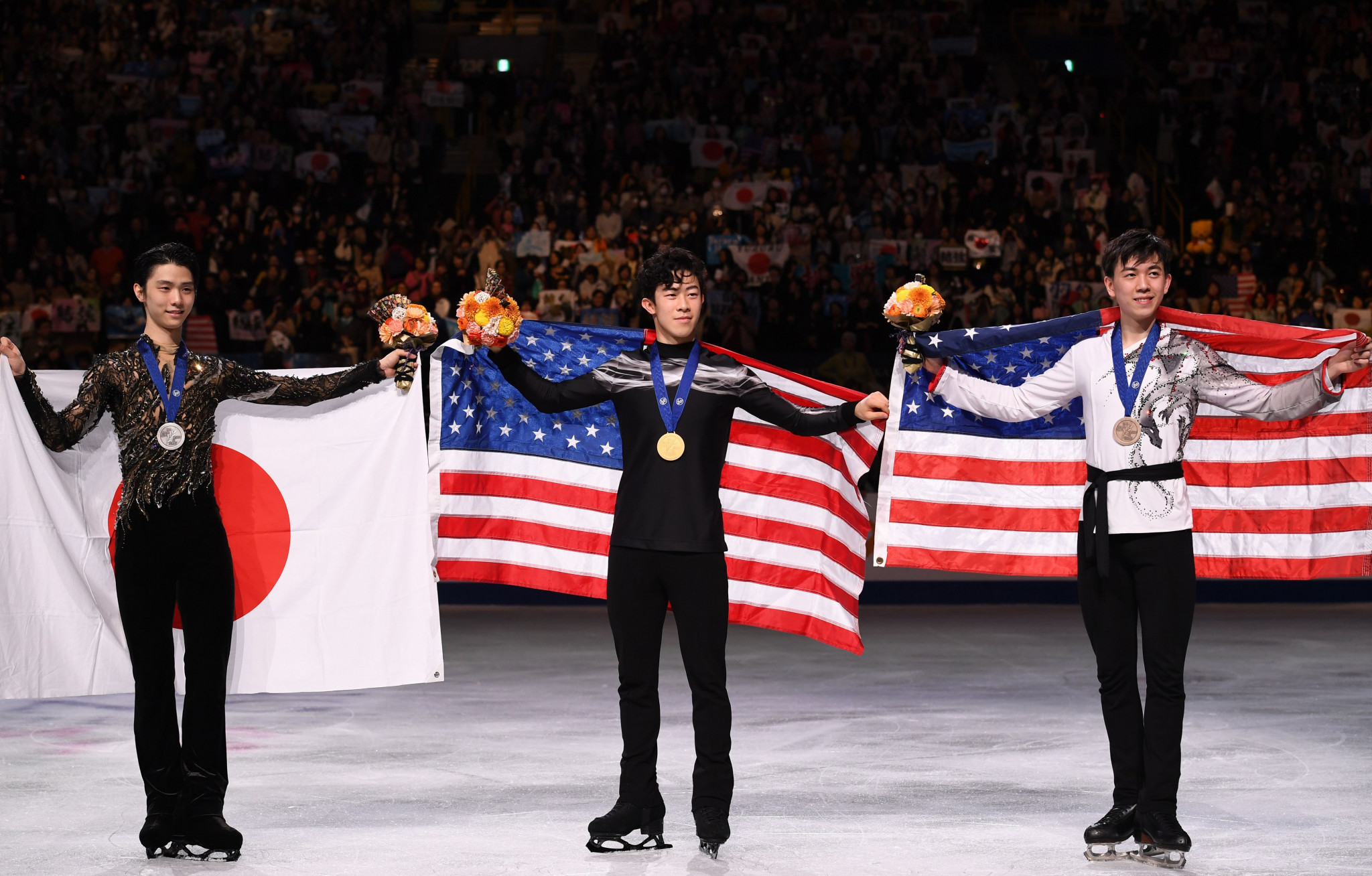 Vincent Zhou was the men's singles bronze medallist at the 2019 World Figure Skating Championships in Saitama in Japan ©Getty Images