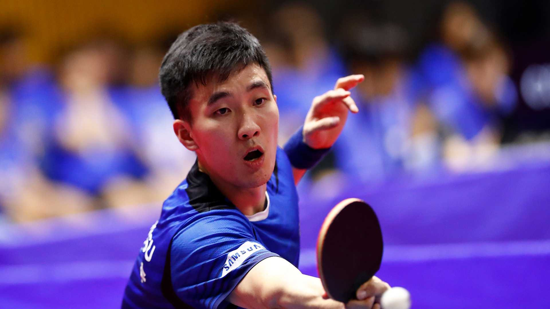 Portugal's Marcos Freitas caused an early upset in the men's singles event at the ITTF Korea Open as he beat Lee Sang-su ©ITTF