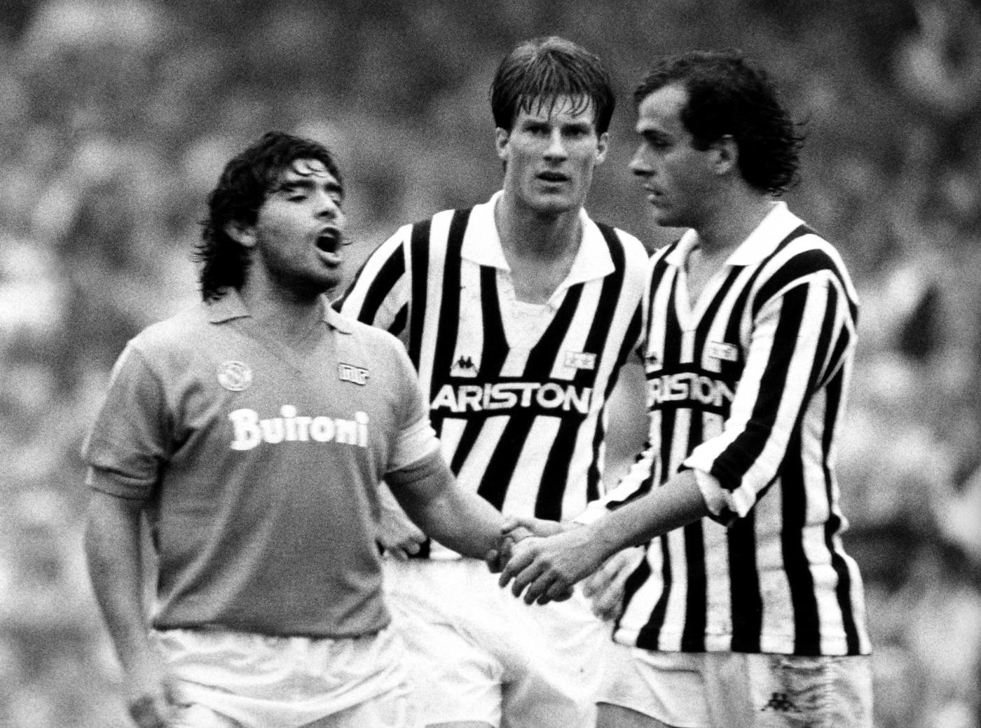 Diego Maradona inspired Napoli to two Serie A titles in three seasons at a time when Juventus were considered unbeatable - their intense rivalry endures to this day ©Getty Images