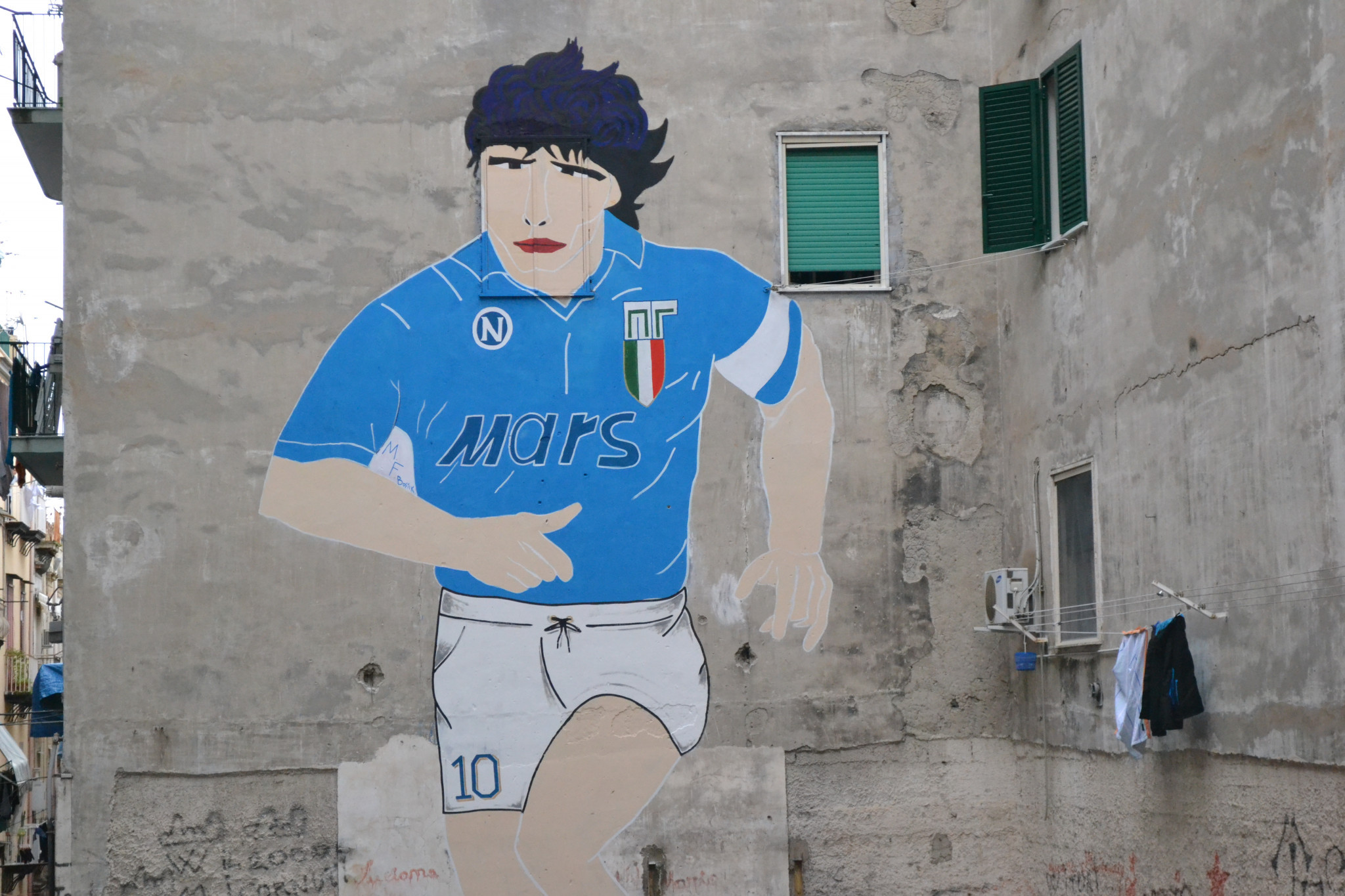 Diego Naples remains a revered figure in Naples, with his image still appearing all over the city ©Philip Barker