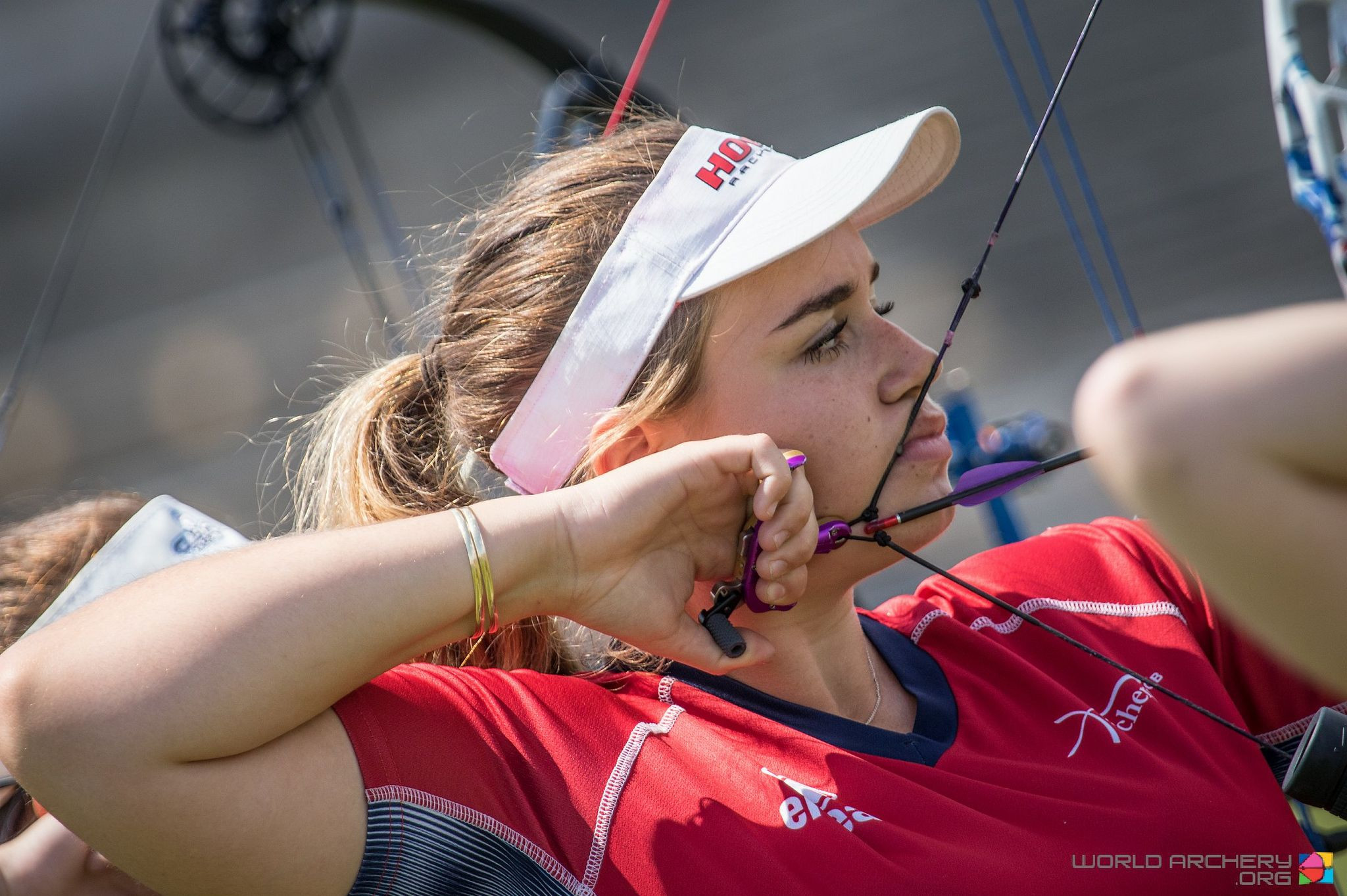 Britain's 19-year-old Ella Gibson will contest two compound team finals tomorrow at the Archery World Cup in Berlin ©World Archery